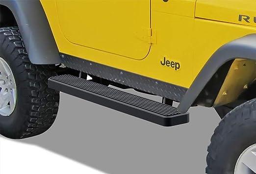 "Topline For 1987-2006 Jeep Wrangler 2 Door 3/"" Side Step Nerf Bars HD Black"