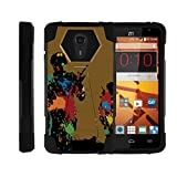 quest paintball - TurtleArmor | ZTE Uhura Case | ZTE Ultra Case | ZTE Quest Case | N817 [Dynamic Shell] Dual Layer Hybrid Built-in Kickstand Absorber Silicone Cover War and Military Design - Paintball War
