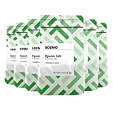 #8: Amazon Brand - Solimo Epsom Salt Soaking Aid, Eucalyptus Scented, 3 Pound (Pack of 6)