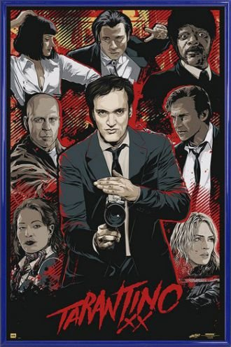 Quentin Tarantino Poster and Frame Plastic - Tarantino Xx, Collection