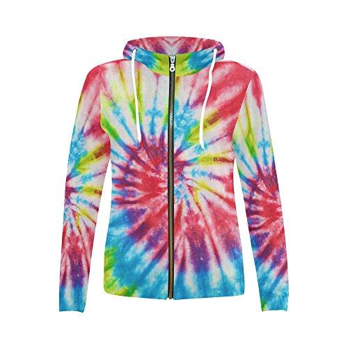 INTERESTPRINT Custom Rainbow Tie Dye Women