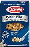 Barilla White Fiber Pasta, Shells, 12 Ounce (Pack of 12)