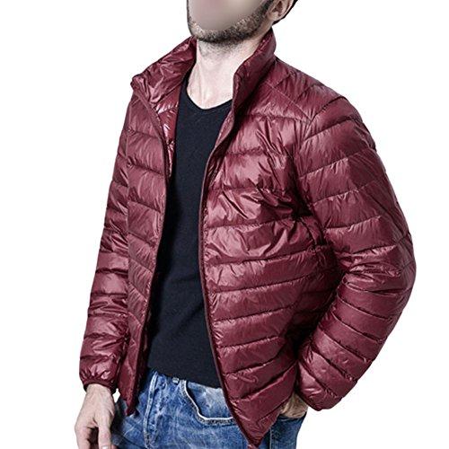 Men Windproof Stand Ultra Jacket Collar Hzjundasi Duck Red Coat Down Outwear Light Thick Parka Z4xwd1f