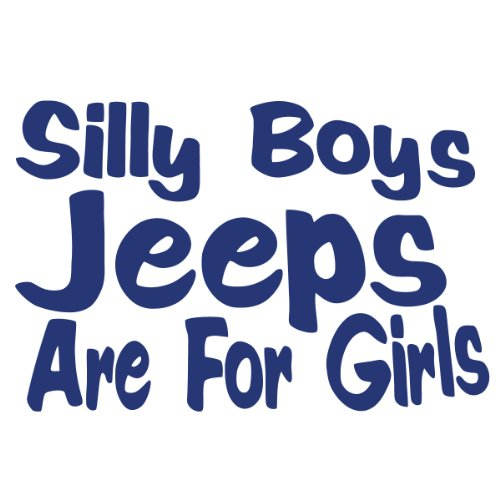 Silly Jeeps Girls Vinyl Sticker