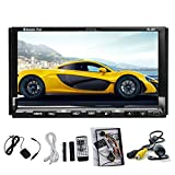 2 Din Car Autoradio Stereo Deck Headunit GPS Navigation LCD Touch Screen In Dash Automobile Audio Video Bluetooth CD DVD MP3/MP4 Rearview Camera