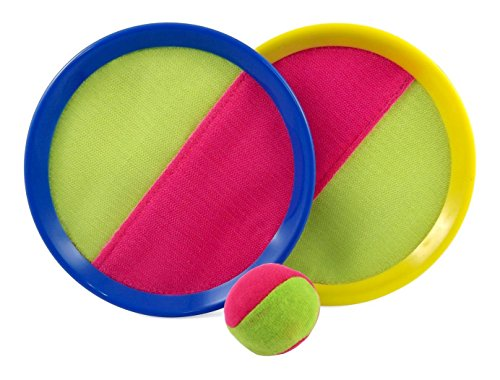 HOMEFUN Velcro Toss and Catch Sports Game Set for Kids with Grip Mitts & Bean Bag Ball Catch Ball Game