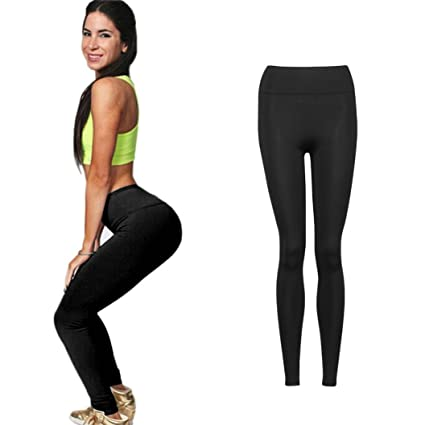 f750938d7ec43e Amazon.com: Hemlock Elastic Yoga Pants, Women Girls High Waist Sport ...