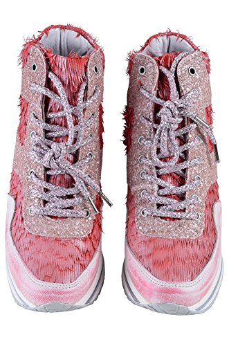 Shoes Salmon Pink Light Women's Sneaker 35 2Star Light Leather Pink Gold Red 6q5fZcO