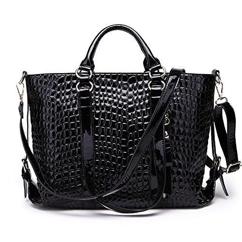 Winter Red And Autumn Big Alligator Black Shoulder Bag Color Messenger FangYOU1314 Pattern Bag Bag EqUAw7