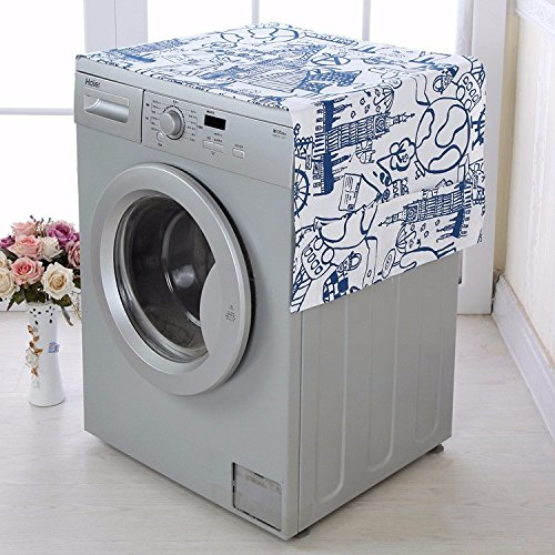 - 1 Piece Washing Machine Cover Waterproof Sunscreen Dustproof Washing Machine Protective Case Pocket Top Front Lid