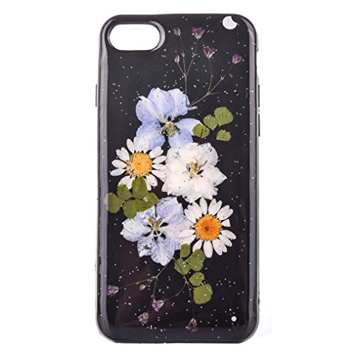 DDLBiz Fashion Beautiful Floral Pattern Case Cover Skin For iPhone 7 Plus 5.5inch (Graphic Rhinestone Case)