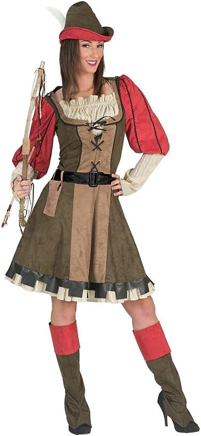 Disfraz de Lady Marian Robin Hood para Mujer - Verde Rojo - Mardi ...