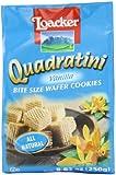 Loacker Quadratini Vanilla Wafer Cookies, 8.82 Ounce
