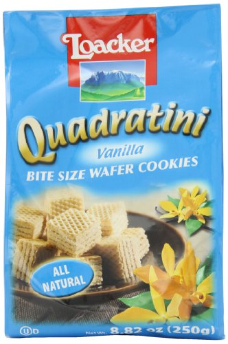 - Loacker Quadratini Vanilla Wafer Cookies, 8.82-Ounce Packages (Pack of 8)