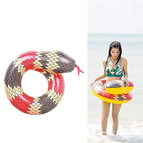 952 Tub - YHYGOO Inflatable Pool Float with Kids Swim Ring, Adult Snake Shape, Bathtub Tube, Float, Summer Beach, Pool Toys (Red)
