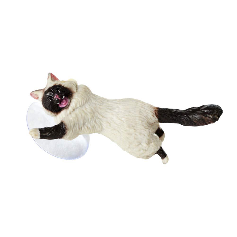 Creative Cartoon Cat Mobile Phone Sucker Novedad Moda Soporte Universal para teléfono Soporte de Escritorio (Cuerpo Blanco Gato de Cara Negra)