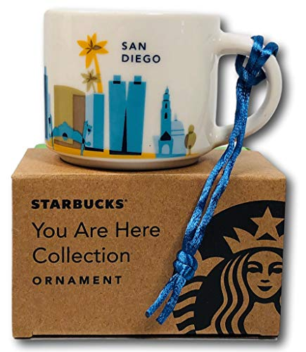 Starbucks Coffee 2016 SAN DIEGO YAH You Are Here Mini mug 2oz Ornament cup ()