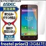 アスデック 【ノングレアフィルム3】 freetel priori2 ( 3G & LTE ) 用 防指紋・気泡が消失するフィルム NGB-FTPR2