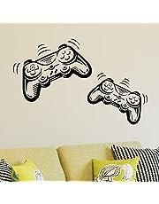 Joystick Playstation Gamepad Children Room Wall Sticker Mural Vinyl Decal Nursery Kids Gamers Art Teenager Video Game Mural