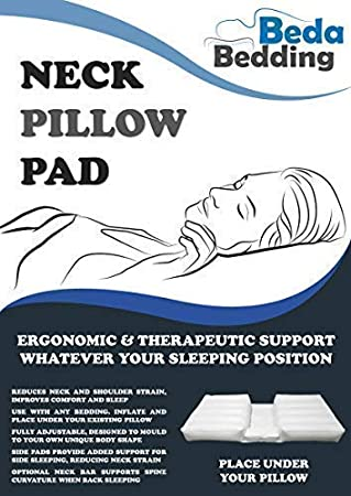 NECK PILLOW PAD: Adjustable pad works