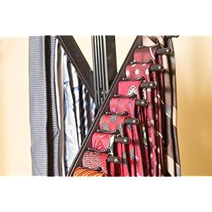 ClosetMate Tie Hanger Tie Rack Pack of 3 - Necktie Cross Hanger, Quality Non-Slip holds 20 Ties, Adjustable Criss-Cross Design - Black Tie Belt Rack Organizer Hanger Non-Slip With 360 Degree Rotation