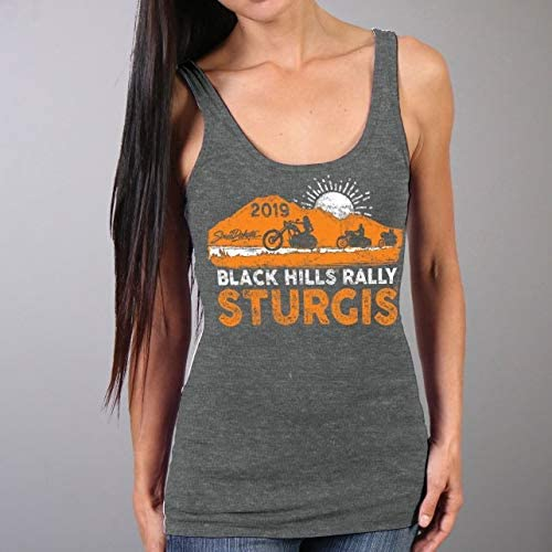 HTR CHAR Large Official 2019 Sturgis Motorcycle Rally Ladies Bear Beauty Tank Top