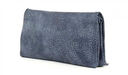 Fritzi aus Preußen Ronja Clas 2D Clutch Umhängetasche 30 cm Jeans (Blau)