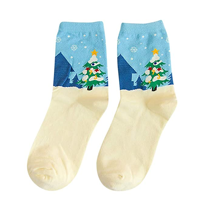 BHYDRY Ventas calientes Otoño Invierno Algodón Mujer Calcetín Navidad Moda Amantes Calcetines: Amazon.es: Ropa y accesorios