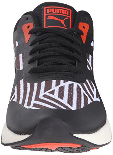 Puma 698 Ignite Stripes Sportstyle Sneaker White/Black/Grenadine