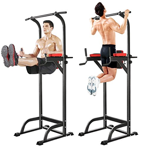 Adjustable Fitness Power Tower, Multi-Function Strength Training Workout  Station for Push-Up, Pull-Up, Dip, Vertical Knee Raise (VKR) Station in  Home