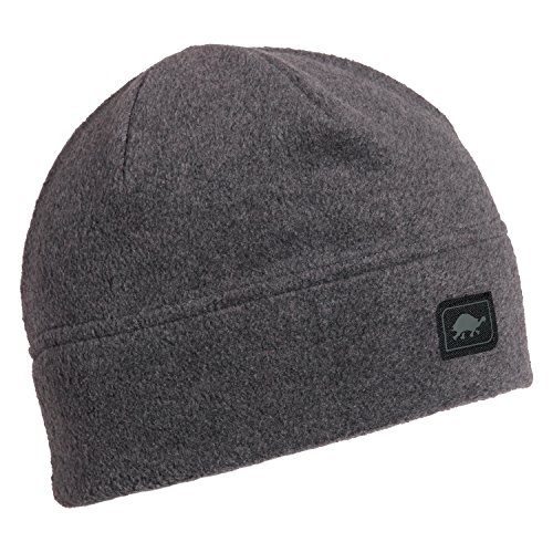 Turtle Fur Midweight Multi-Season Beanie, Chelonia 150 Fleece Hat, Charcoal -