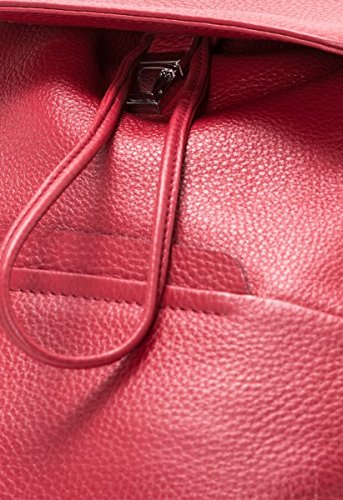 pour femme à main porté BREE Sac au dos Faro Rouge brique w4xT0Z
