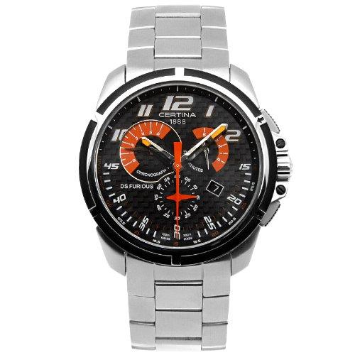 Certina DS FuriousメンズSteelブレスレット& Caseサファイアクリスタルクォーツブラックダイヤル腕時計c011.417.21.202.00 B00CJ33Y5Y