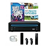 Nintendo Wii Console Bundle with Just Dance 3, Wii Sports & 2 Controllers