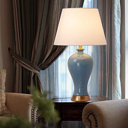(BTTB Household Bedside Table Lamp, Decoration Desk Lamp, Studentye Protection Table Lamp, Crackle Ceramics Desk Lamp, Bedroom Bedside Lamp Living Room Decoration Study Decorate Dresser Retro Creative)