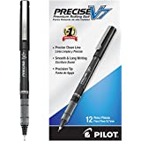 Pilot Precise V7 Stick Rolling Ball Pens, Fine Point, Dozen Box, Black Ink (35346)