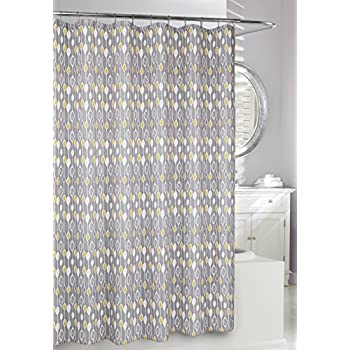 Moda At Home 204179 Graystone Water Repellent Fabric Shower Curtain 71 Inch X