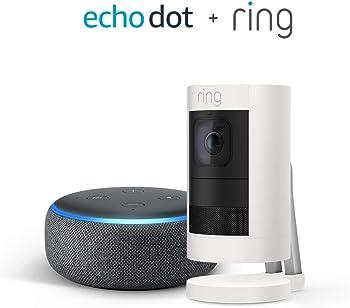 Ring Stick Up Cam Battery HD Security Camera + Echo Dot (3rd Gen)