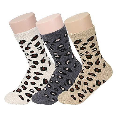 Women's Soft Warm Leopard Pattern Fuzzy Socks ()
