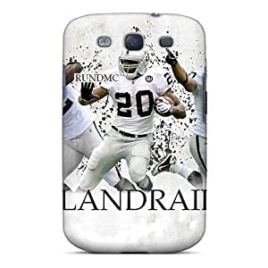 L.M.CASE Scratch-free Phone Case For Galaxy S3- Retail Packaging - Oakland Raiders