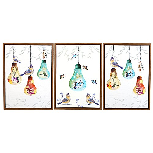 60x90 Light Bulbs And birds Painting For Living Room Wall Paintings On Canvas Oil Painting Wall Painting by Unknown