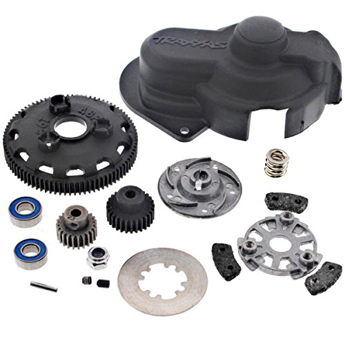 Traxxas 1/10 Slash 2WD VXL 86T SPUR GEAR, SLIPPER CLUTCH, TWO PINIONS & (Aluminum Gear Cover)
