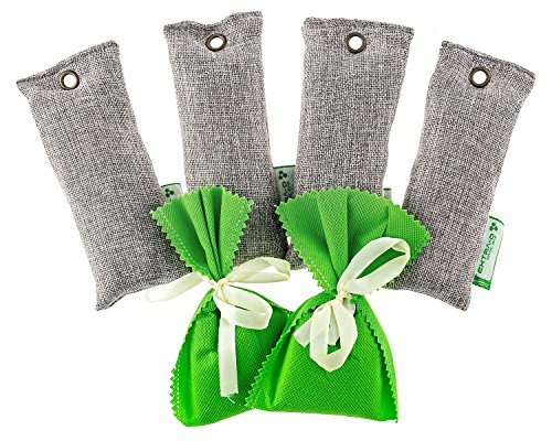 Natural Bamboo Charcoal Air Purifying Bags 6pcs Set Eliminate Smells From Closet Shoes Boots