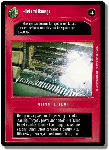 STAR WARS CCG REFLECTIONS II FOIL LATERAL DAMAGE 25VR