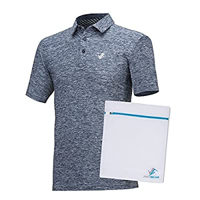 Jolt Gear Mens Dry Fit Golf Polo Shirt, Athletic Short-Sleeve Polo Golf Shirts (Laundry Bag included)