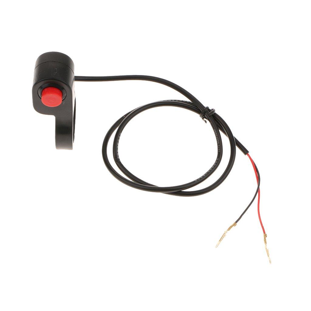 Baoblaze 1 Psc de Boton Interruptor de Claxon de Motocicleta Reemplazable 22 mm