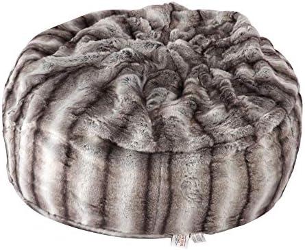 Faux Fur Bean Bag Chair Luxury and Comfy Big Beanless Bag Chairs Plush Furry Chair Soft Sofa Lounger