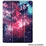 """Brain Freezer Smart Trifold Lightweight Slim Shell Standing Hard Back flip Cover with Auto Wake/Sleep Feature Compatible with iPad 10.2"""" 7th Gen 2019 Galaxy"""