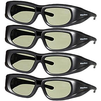 827d963ae84c6 4 Adult Epson ELPGS03 3D Glasses 3D Heaven Rechargeable Compatible 3-D  Glasses 4 PACK!