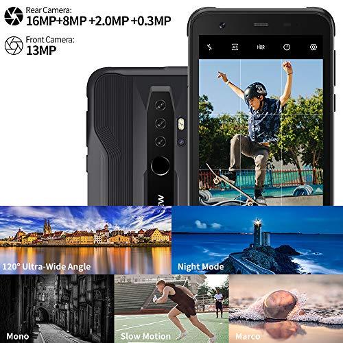 Telephone Portable Incassable, Blackview® BV6300 Pro Smartphone Débloqué 4G (Quad Caméra 16MP, Android 10, Helio P70… 2